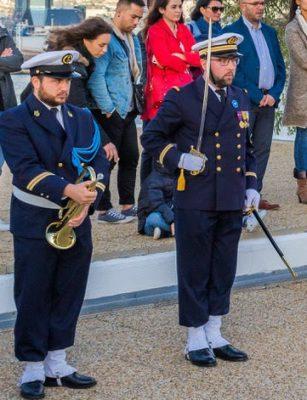 L'Enseigne de Vaisseau de Première Classe REYFORT Cyril - Chef du centre de Préparation Militaire Marine de Marseille